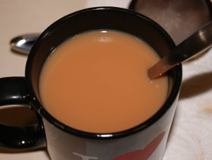 Irish Breakfast Tea with Whole Milk and Honey