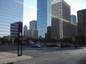 Leaving Downtown Dallas on the Greyhound Bus
