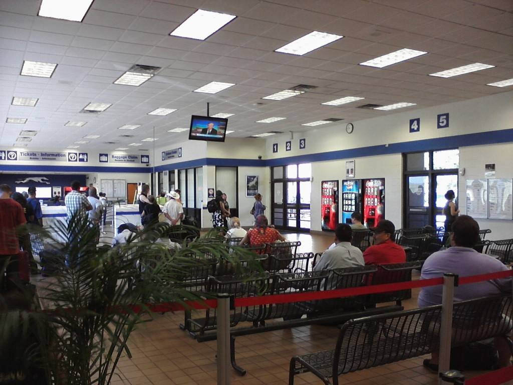 Seating Area of Austin Greyhound Station