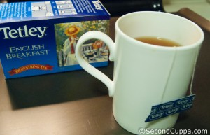 Image of Tetley English Breakfast Drawstring Tea and Mug