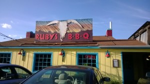 Image of Ruby's BBQ Exterior and Sign