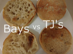 Bays vs Trader Joe's English Muffins