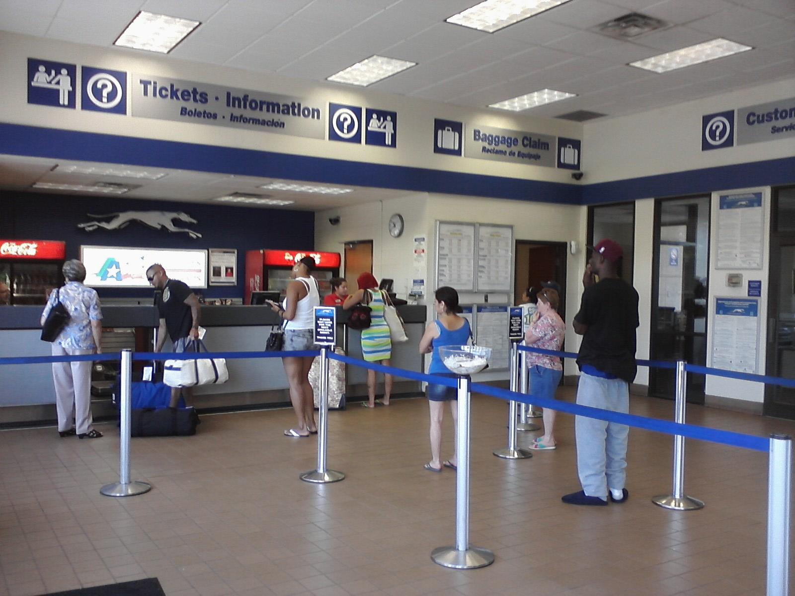 Austin Greyhound Terminal Ticket Counter Second Cuppa